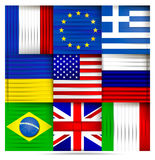 Popular world flags abstract Royalty Free Stock Photography