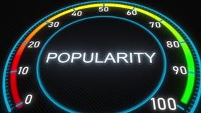 Popularity futuristic meter or indicator. Conceptual 3D rendering. Futuristic meter conceptual 3D animation stock illustration