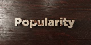 Popularity - grungy wooden headline on Maple  - 3D rendered royalty free stock image Stock Photography