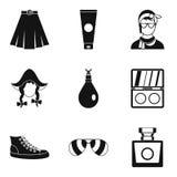 Popularity icons set, simple style. Popularity icons set. Simple set of 9 popularity vector icons for web isolated on white background Stock Images