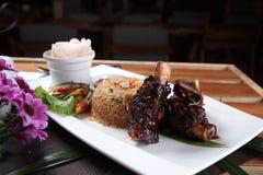 Popularna Indonezyjska kuchnia smażący ryż Zdjęcie Royalty Free