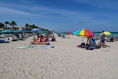 Popularna Południowa Floryda plaża Fotografia Stock