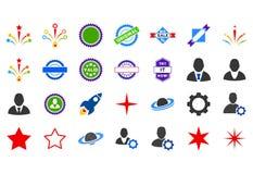Popularne Płaskie ikony Obraz Stock
