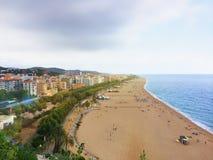 Popularne plaże Catalonia Hiszpania zdjęcie stock