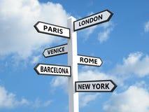 Popularni miasta Zdjęcie Royalty Free