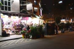 Popularny kwiatu rynek w Mong Kok, Hong Kong Fotografia Royalty Free
