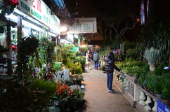 Popularny kwiatu rynek w Mong Kok, Hong Kong Obrazy Royalty Free