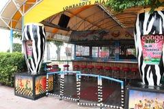 Popularny plenerowy Kongo bar wzdłuż portu Miami beachwalk, Kwiecień, 2013. Fotografia Royalty Free