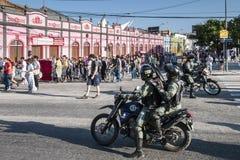 Popularny protest w dzień niezależności Brazylia Obrazy Stock