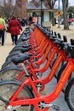 Popularny sposób dostawać wokoło miasta, Kapitałowy Bikeshare, Waszyngton, DC, 2015 Zdjęcie Stock