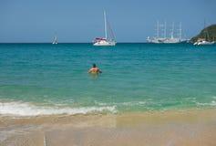 Popularny turystyczny miejsce przeznaczenia w karaibskim Fotografia Stock