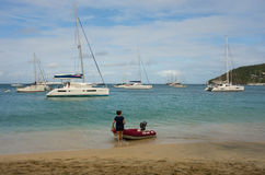 Popularny turystyczny miejsce przeznaczenia w karaibskim Zdjęcia Royalty Free