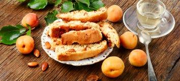 Popularny Włoski biscotti Zdjęcia Royalty Free