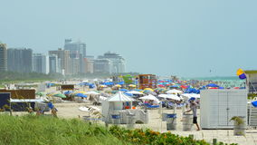 Populated Miami Beach during 4th of July weekend stock footage