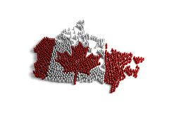 Population of the Canada. Represented by 3d character on white background Royalty Free Stock Image