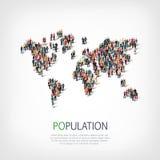 Population de forme de personnes de groupe Image libre de droits