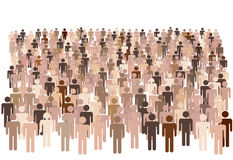population diverse de gens de groupe Images stock