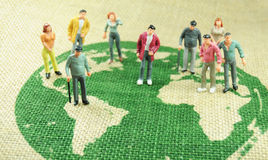 Population du monde Photo stock