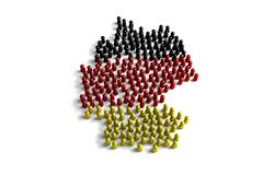 Population of the Germany. Represented by 3d character on white background Royalty Free Illustration