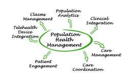 Population Health Management. Diagram of Population Health Management Royalty Free Stock Photo
