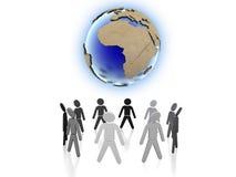 Populations du monde Photos stock