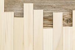 Populier en ceder houten textuur Stock Foto