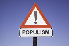 Populisme d'attention Image stock