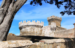 Populonia城堡,意大利 免版税库存照片
