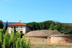 Populonia考古学Parc在Piombino,意大利附近的 免版税库存图片