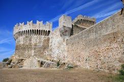 Populonia,意大利城堡  免版税图库摄影
