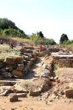 Populonia,意大利考古学Parc的工作者  库存照片