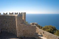 Populonia, le pareti della fortezza Immagine di colore Immagini Stock Libere da Diritti