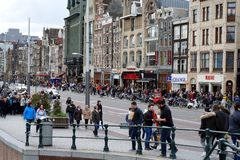 Populous Amsterdam. Spring day in populous Amsterdam Netherlands Royalty Free Stock Photography