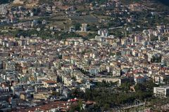 Populous city of Alanya. In Turkey at spring time Royalty Free Stock Photo