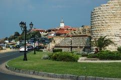 populärt touristic för berömdt ställe för ö nesebar Royaltyfri Bild