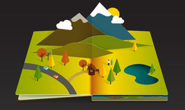 Popup book fall Royalty Free Stock Photography