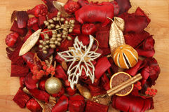 Popurrí de la Navidad Foto de archivo libre de regalías