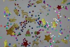 Popurrí de las decoraciones de la Navidad fotografía de archivo