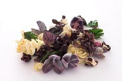 Popurrí púrpura y amarillo claro Fotografía de archivo libre de regalías