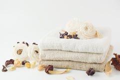 Popurrí y toalla secos. Imagen de archivo libre de regalías