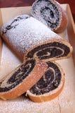 Popy seeds cake Stock Photos