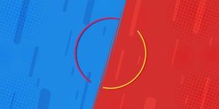 Porównywał prześcieradła VS walka przeciw tło w płaskim ekranie błyskawica, komiczny projekt zrobi halftone ilustracji
