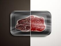 Porównanie mięsna ilość ilustracja wektor