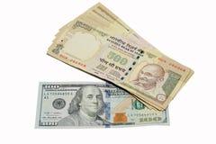 Porównanie między 2 walutami obrazy royalty free