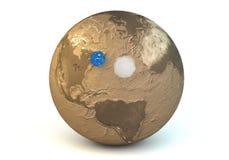 Porównanie wodne i lotnicze masy planety ziemia Obrazy Stock