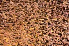 Porös abstrakt textur av stenyttersida Arkivbild