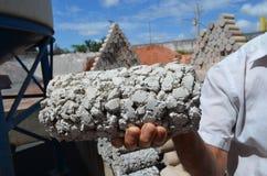 Porös betong Arkivfoto