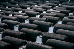 Porösa skumdelar i fabriksmaterielet Royaltyfri Bild