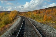 Poręcz i otoczenia w jesień kolorach Fotografia Royalty Free