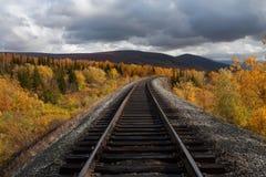 Poręcz i otoczenia w jesień kolorach Fotografia Stock